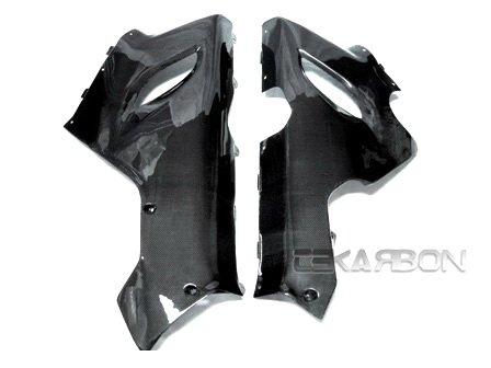 2005 - 2006 Kawasaki ZX6R Carbon Fiber Lower Side Fairings