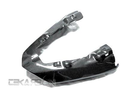 2007 - 2008 Kawasaki ZX6R Carbon Fiber Exhaust Cover Non Vented