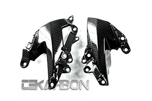 2009 - 2012 Kawasaki ZX6R Carbon Fiber Side Fairing Panels - Twill