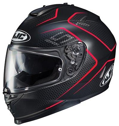 HJC IS-17 Lank - Full-Face Street Motorcycle Helmet - Matte BlackRed - Large