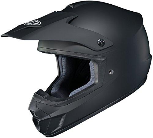 HJC Solid Adult CS-MX 2 Dirt Bike Motorcycle Helmet - Matte Black  Large
