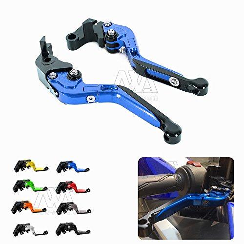2 Pcs Adjustable Foldable Extendable Motorbike Brakes Clutch CNC Levers For Honda CBR1000RRFIREBLADESP 2008-2016 For Honda CBR600RR 2007-2016 Blue