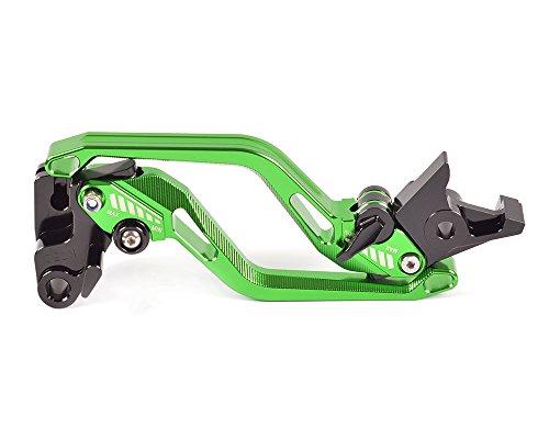 Tencasi Green CNC New Long Rhombus Hollow Brake Clutch Levers for Honda CBR1000RR  FIREBLADE 2008 2009 2010 2011 2012 2013 2014 2015 2016