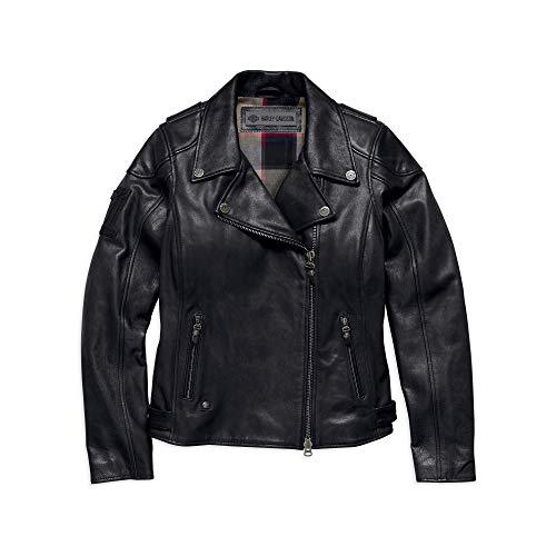 Harley-Davidson Womens Alameda Leather Biker Jacket Black Small