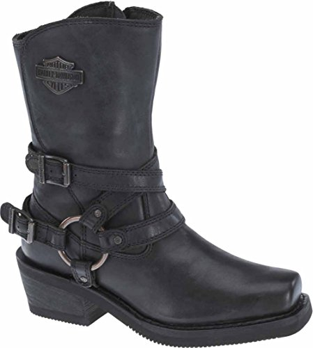 Harley-Davidson Womens Ingleside 85-Inch Motorcycle Boots D87091 Black 7