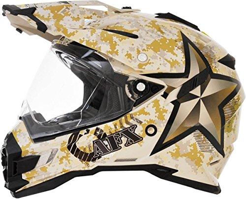 AFX FX-41DS Marpat Dual Sport Mens Motorcycle Helmets - Medium