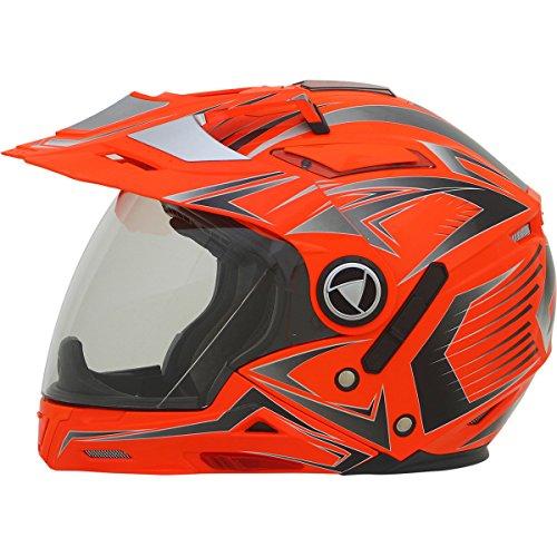 AFX FX-55 Seven In One Multi Mens Motorcycle Helmets-Hi-Vis Orange-2X-Large