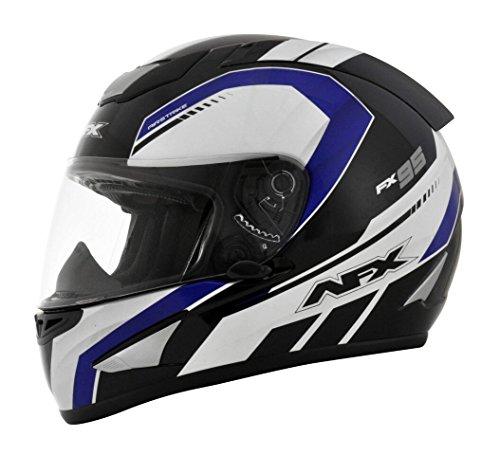 AFX FX-95 Airstrike Mens Motorcycle Helmets - BlackBlue - Small
