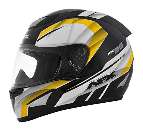 AFX FX-95 Airstrike Mens Motorcycle Helmets - BlackYellow - Large
