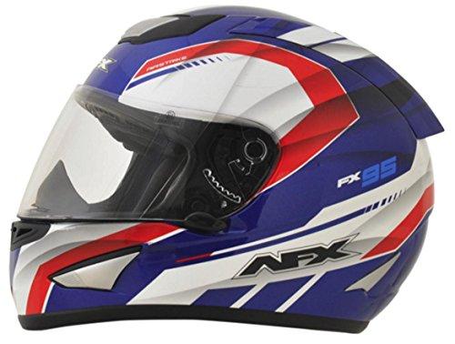 AFX FX-95 Airstrike Mens Motorcycle Helmets - RedWhiteBlue - Medium