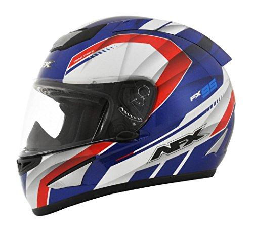 AFX FX-95 Airstrike Mens Motorcycle Helmets - RedWhiteBlue - Small