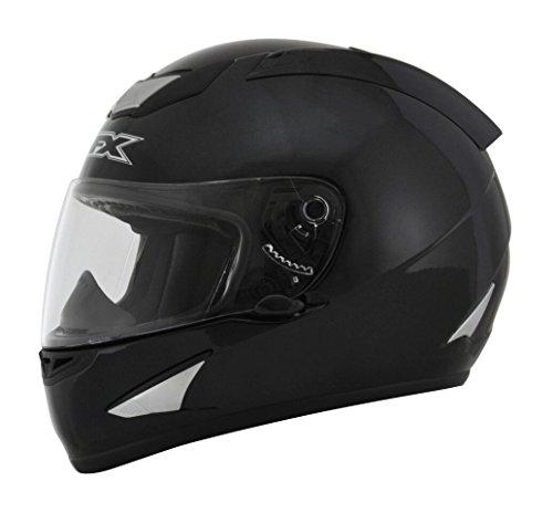 AFX FX-95 Solid Mens Motorcycle Helmets - Black - Large
