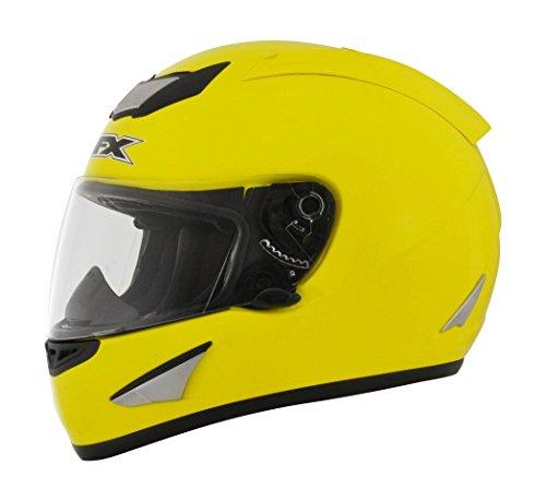 AFX FX-95 Solid Mens Motorcycle Helmets - Yellow - Medium