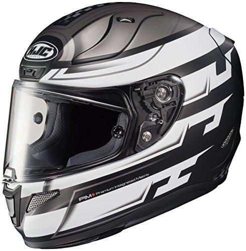 HJC RPHA 11 Pro Skyrym Mens Motorcycle Helmets - Silver - Large