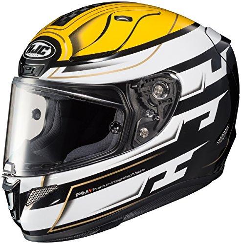 HJC RPHA 11 Pro Skyrym Mens Motorcycle Helmets - Yellow - Large