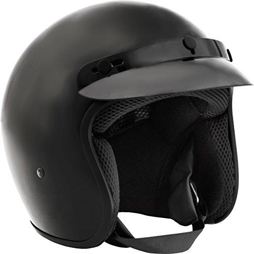 Fuel Helmets SH-OF0016 O5 Series Open Face Helmet Gloss Black Large