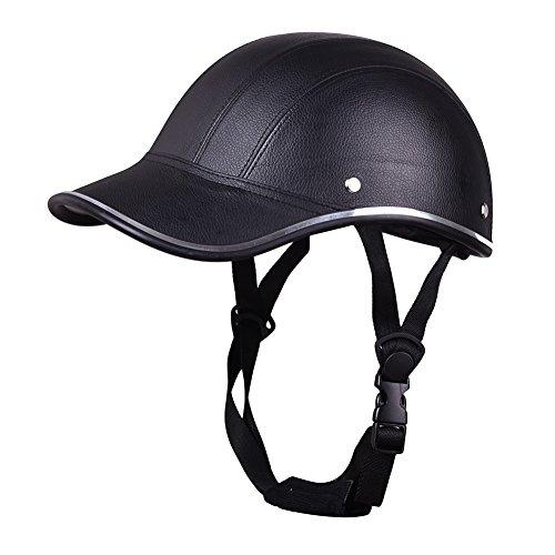 Oshide Motorcycle Half Face Helmet Protective Helmets horse riding helmet Leather Baseball Cap For Men Women Girls