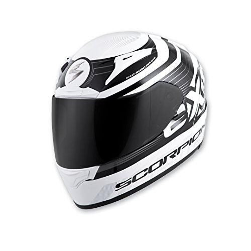 Scorpion EXO EXO-R2000 WhiteBlack Fortis Full Face Helmet L