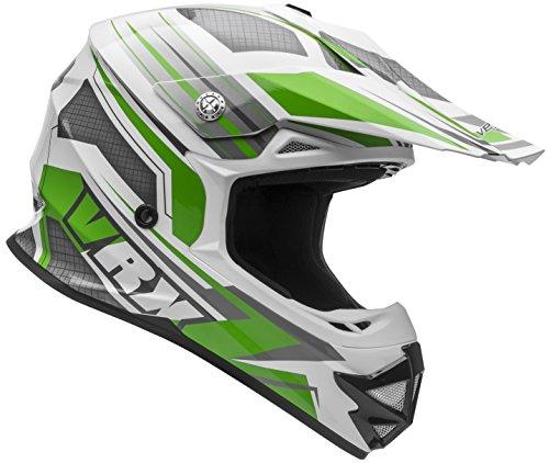 Vega Helmets VRX Advanced Dirt Bike Helmet – Off-Road Full Face Helmet for Motocross ATV MX Enduro Quad Sport 5 Year Warranty Green Venom Graphic Large
