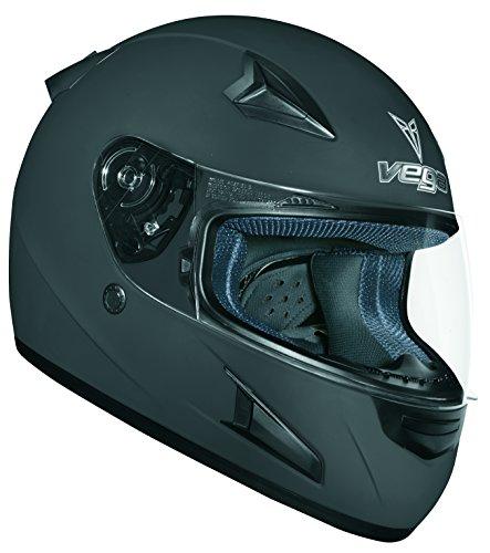 Vega X888 Full Face Helmet Flat Black Large