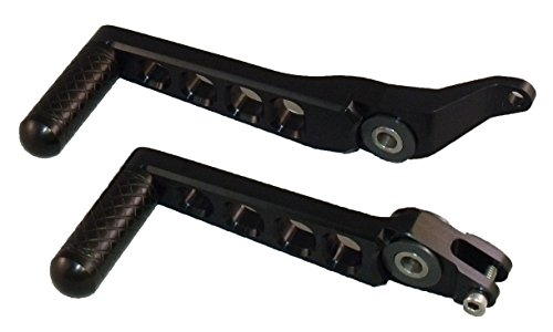 Knight Design Shift And Brake Foot Levers for Buell XB12X Ulysses Models black anodized