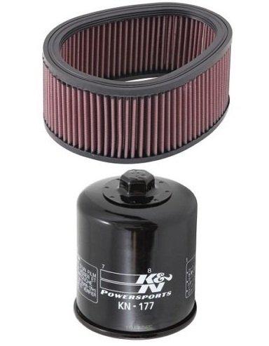 K&N Motorcycle Air Filter  Oil Filter Combo 2004-2010 Buell Firebolt XB12R BU-9003  KN-177