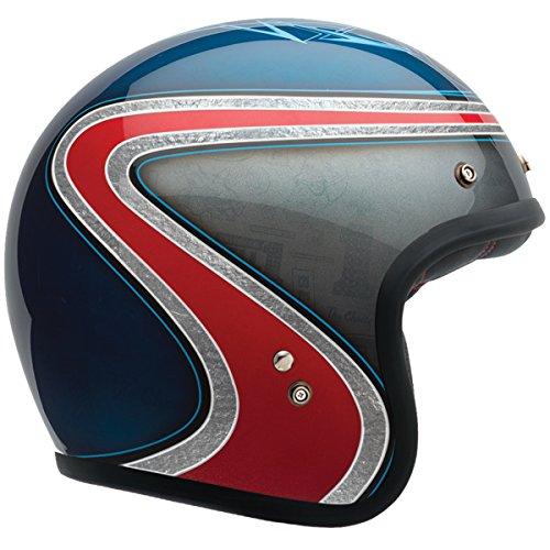 Bell Custom 500 Unisex-Adult Open face Street Helmet Airtrx Heri BlueRed Medium DOT-Certified