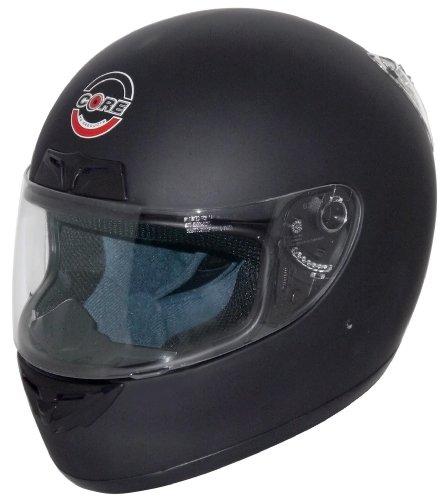Core CR-1 Full Face Street Helmet Flat Black Medium