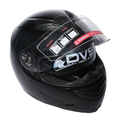 XFMT Black Motocross Offroad Street Helmet Dual Visor Sun Full Face Motorcycle Helmet XXL