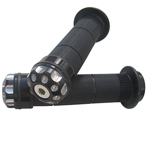 ALUMINUM MOTORCYCLE 78 22MM HANDLEBAR GEL RUBBER HAND GRIPS WITH Black CNC BAR END CAP FOR 2003 Buell Firebolt XB9R