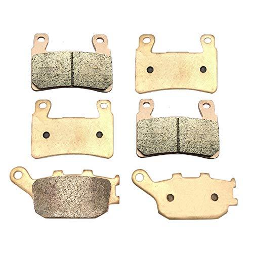 SYUU Motorcycle Front Rear Severe Duty Sintered Metal Brake Pads for Honda CBR 900 RR Fireblade 1998-2003 CBR 929 RR 2000-2001 VTR1000 2000-2007 FA265F FA174R