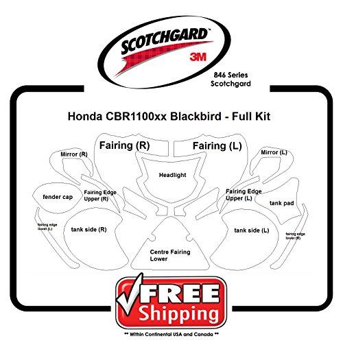 Kits for Honda CBR1100 Blackbird - 3M 846 Series Scotchgard Paint Protection