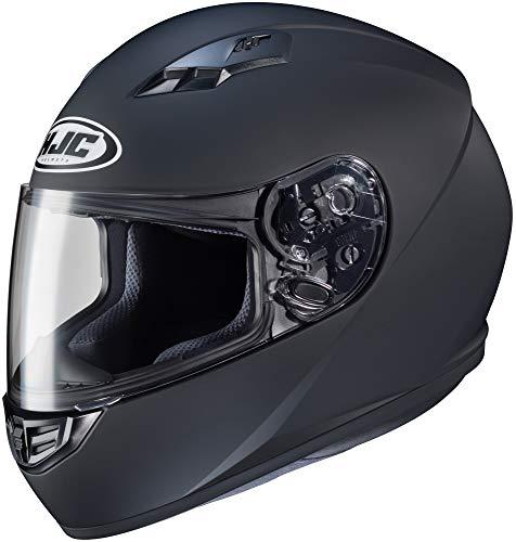 HJC Unisex Adult CS-R3 Matte Black Full Face Helmet 0856-0135-04