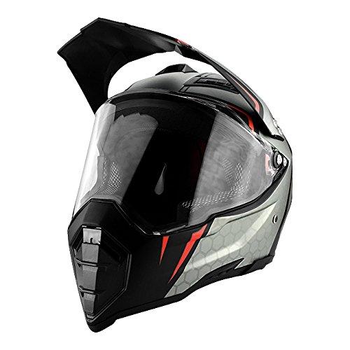 Matte Black Full Face Helmet Off Road Motocross with Face Shield