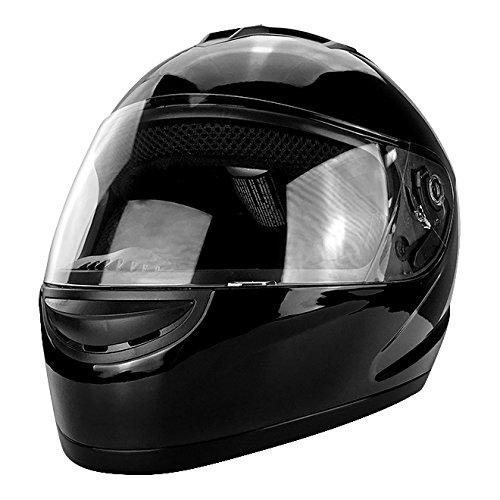 Gloss Black Full Face Motorcycle Helmet DOT Approved