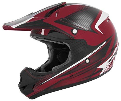 Cyber Helmets 640209 UX-23 Carbonite Helmet RedBlack Large