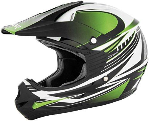 Cyber Helmets 640286 UX-23 Dyno Youth Helmet Distinct Name Green Gender Boys Helmet Category Offroad Helmet Type Offroad Helmets Primary Color Green Size Lg Size Segment Youth