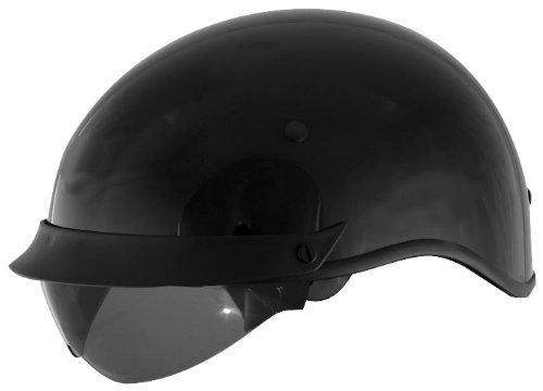 Cyber Helmets U-72 Solid Helmet  Helmet Type Half Helmets Helmet Category Street Distinct Name Black Primary Color Black Size 2XL Gender MensUnisex 640835