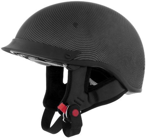 Cyber Helmets U-72 Solid Helmet  Helmet Type Half Helmets Helmet Category Street Distinct Name Carbon Primary Color Black Size XL Gender MensUnisex 640854
