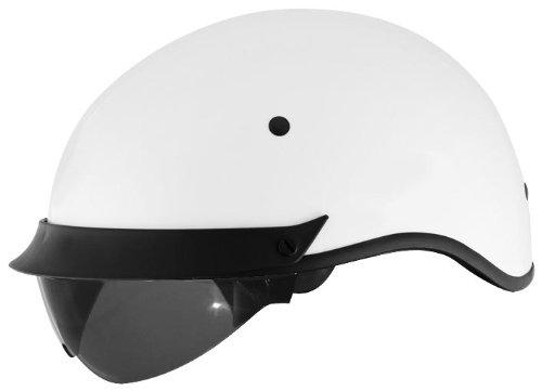 Cyber Helmets U-72 Solid Helmet  Helmet Type Half Helmets Helmet Category Street Distinct Name White Primary Color White Size Md Gender MensUnisex 640862