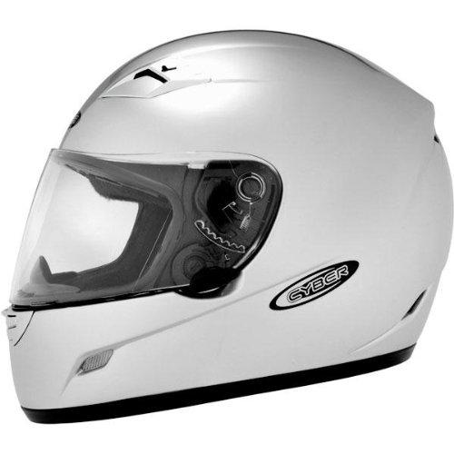 Cyber Helmets US-39 Solid Helmet  Size Lg Primary Color Silver Distinct Name Light Silver Helmet Type Full-face Helmets Helmet Category Street Gender MensUnisex 640743