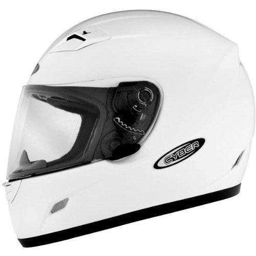 Cyber Helmets US-39 Solid Helmet  Size Lg Primary Color White Distinct Name White Helmet Type Full-face Helmets Helmet Category Street Gender MensUnisex 640733