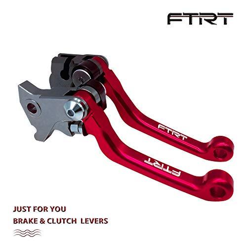 FTRT Pivot Dirt bike Brake Clutch Levers for Honda CR80RCR85R 1998-2007CR125RCR250R 1992-2003CRF150R 2007-2018CRF450R 2002-2003 Red