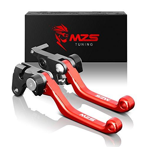MZS Pivot Levers Brake Clutch CNC for OEM CR125R CR250R 2004-2007 CRF250R CRF450R 2004-2006 CRF250X 2004-2018 CRF450X 2005-2018 Red
