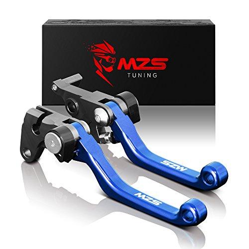 MZS Pivot Levers Brake Clutch CNC for Yamaha YZ125 YZ250 2008-2014 YZ250F 2007-2008 YZ426F YZ450F 2008 Blue