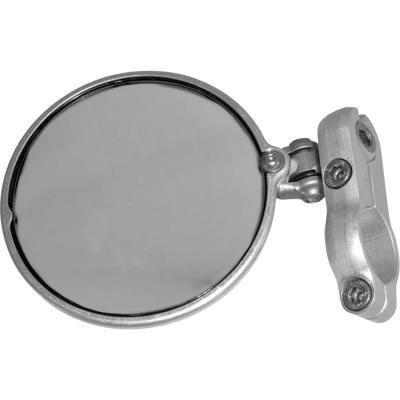 CRG Hindsight Left Bar End Mirror - Silver HS-201-L