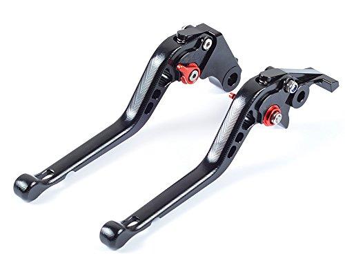 Tencasi Black CNC 3D Long Adjustable Brake Clutch Lever for Kawasaki ZX6R  636 2007-2016 ZX10R 2006-2015 Z1000 2007-2016