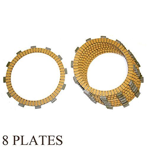 Caltric FRICTION CLUTCH PLATE Fits KAWASAKI VN800 VN-800 VULCAN 800 CLASSIC 1996-2005 8-PLATES