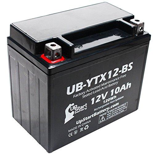 Replacement 2006 Kawasaki VN800-A B C E Vulcan Classic Drifter 800 CC Factory Activated Maintenance Free Motorcycle Battery - 12V 10Ah UB-YTX12-BS