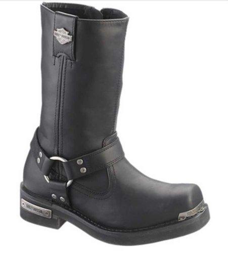 HARLEY-DAVIDSON FOOTWEAR Mens Landon Motorcycle Boot Black 12 Medium US